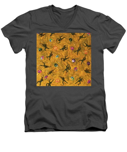 War And Peace Men's V-Neck T-Shirt by Thomas Blood