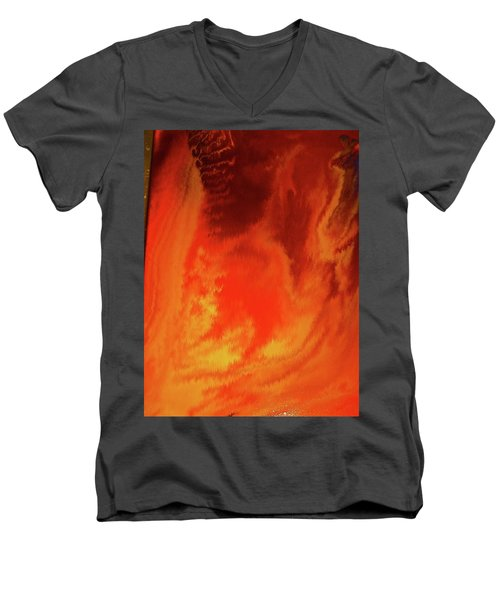 Warm  Men's V-Neck T-Shirt