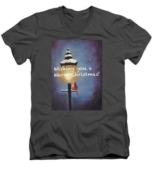 Warm Christmas Men's V-Neck T-Shirt