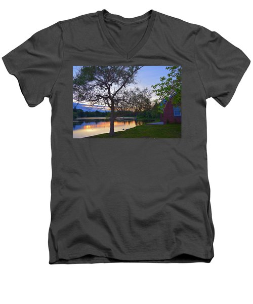 Warming House Men's V-Neck T-Shirt by Kate Arsenault