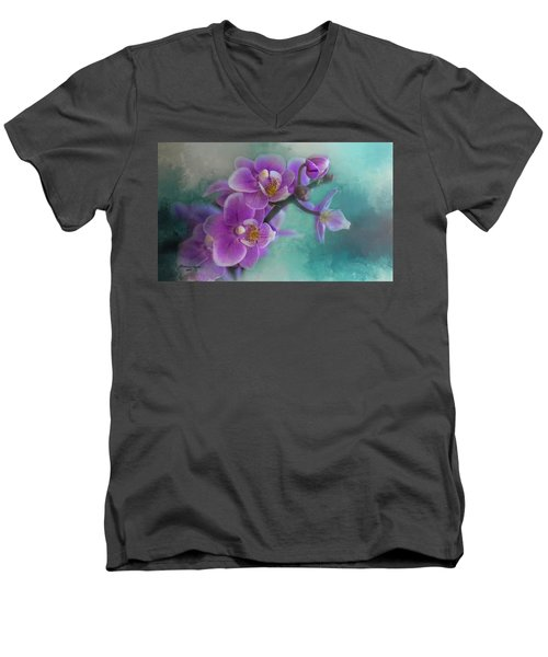 Men's V-Neck T-Shirt featuring the photograph Warms The Heart by Marvin Spates