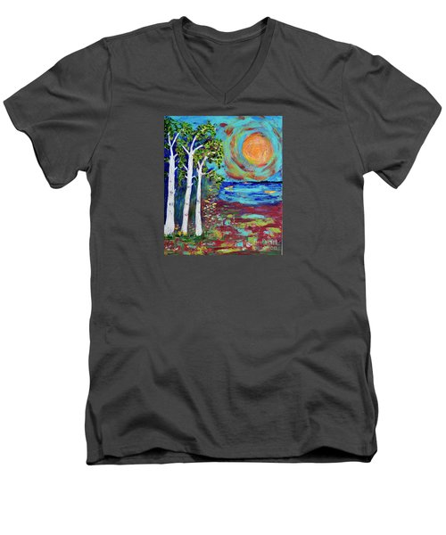 Warmth Of The Sun Men's V-Neck T-Shirt by Haleh Mahbod