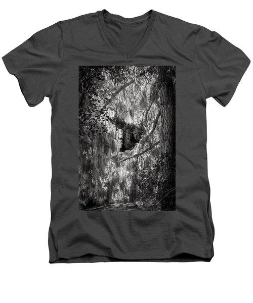 Warp Of Life Bw Men's V-Neck T-Shirt