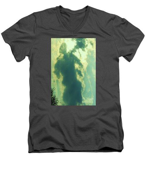 Warrior Hunter Men's V-Neck T-Shirt by Robin Coaker