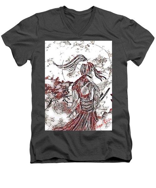 Warrior Moon Anime Men's V-Neck T-Shirt
