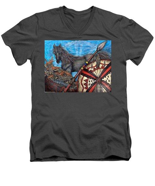 Warrior Spirit Men's V-Neck T-Shirt