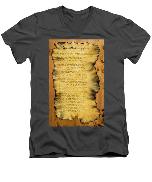 War's Poem Men's V-Neck T-Shirt
