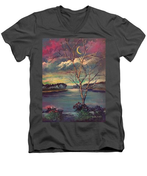 Was Like Stained Glass Men's V-Neck T-Shirt by Randy Burns