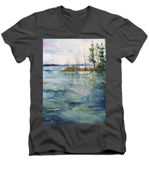 Washed By The Waters Series Men's V-Neck T-Shirt by Robin Miller-Bookhout
