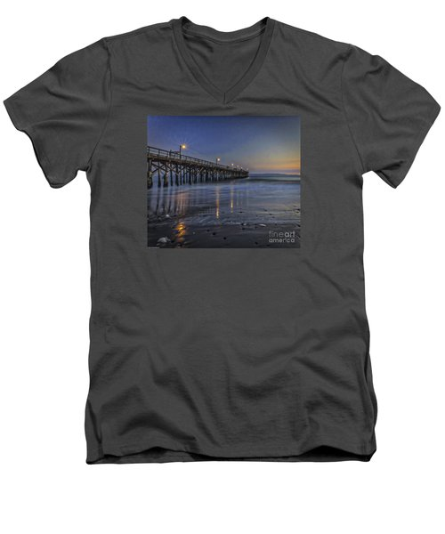 Men's V-Neck T-Shirt featuring the photograph Washed Clean by Mitch Shindelbower
