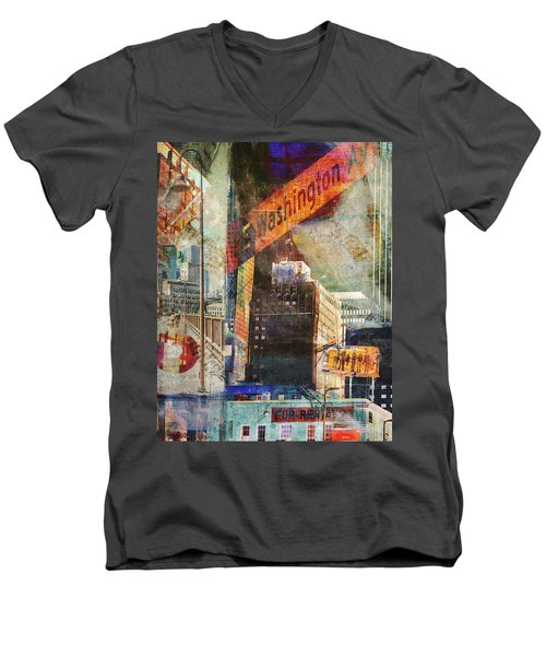 Washington Ave. 2 Men's V-Neck T-Shirt
