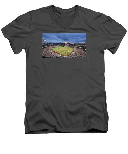 Washington Nationals Park Men's V-Neck T-Shirt by Brendan Reals
