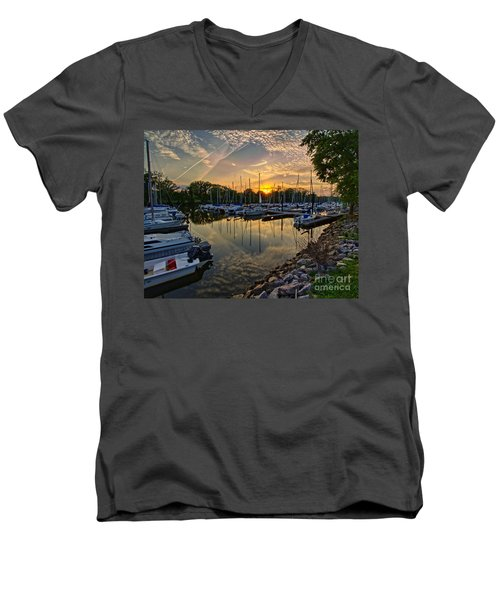 Washington Sailing Marina Men's V-Neck T-Shirt