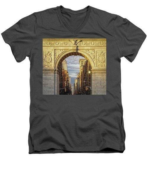 Washington Square Golden Arch Men's V-Neck T-Shirt