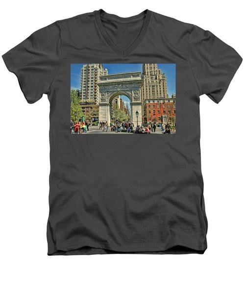 Washington Square Park - N Y C Men's V-Neck T-Shirt