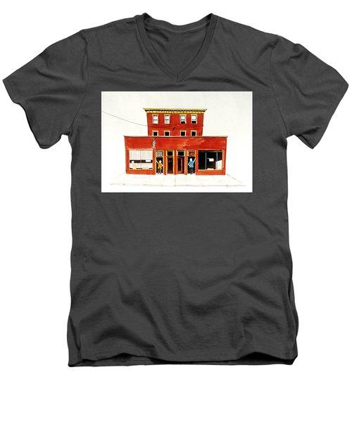 Washington Street Barbers Men's V-Neck T-Shirt