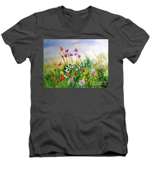 Washington Wildflowers Men's V-Neck T-Shirt