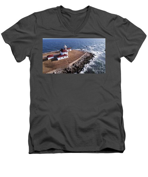 Watch Hill Lighhouse Men's V-Neck T-Shirt