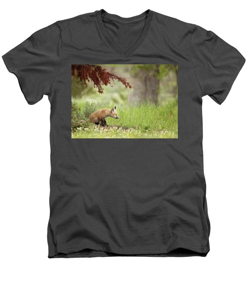 Watching Men's V-Neck T-Shirt