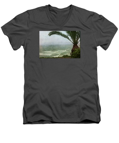 Watching The Boats Come In Men's V-Neck T-Shirt