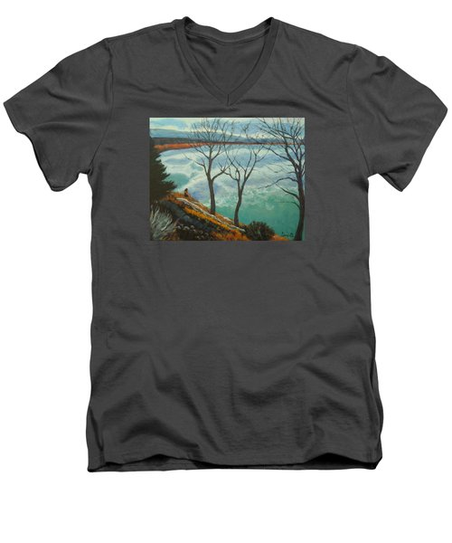 Watching The Clouds Go By Men's V-Neck T-Shirt