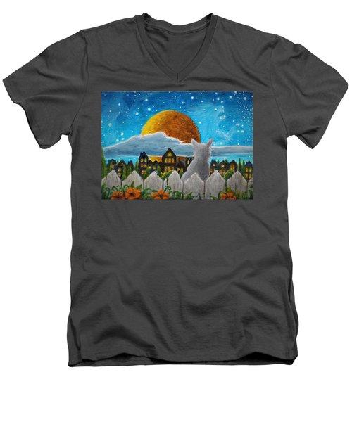 Watching The Lion Men's V-Neck T-Shirt
