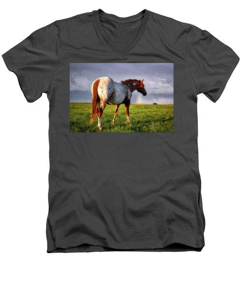 Watching The Rainbow Men's V-Neck T-Shirt
