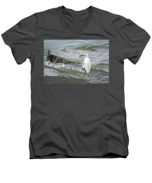 Watching The Tide Come In Men's V-Neck T-Shirt