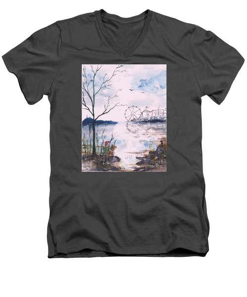 Watching The World Go Round Men's V-Neck T-Shirt