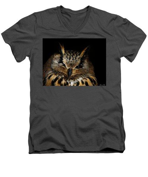 Watching You Men's V-Neck T-Shirt by Bernd Hau
