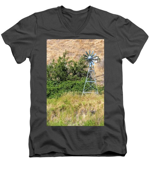 Water Aerating Windmill For Ponds And Lakes Men's V-Neck T-Shirt