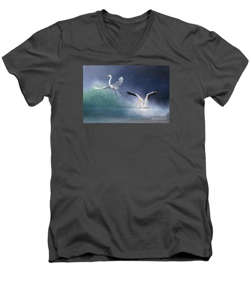 Water Ballet Men's V-Neck T-Shirt by Bonnie Barry