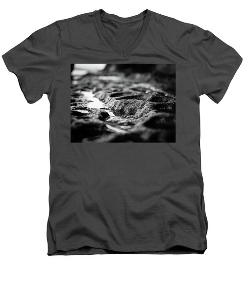 Water Carvings Men's V-Neck T-Shirt