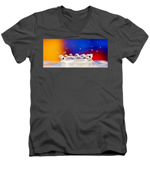 Men's V-Neck T-Shirt featuring the photograph Water Drop by Colin Rayner