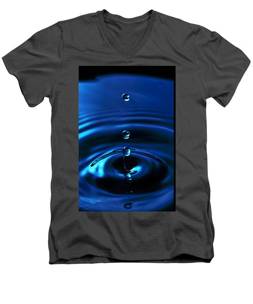 Water Drop Men's V-Neck T-Shirt by Marlo Horne