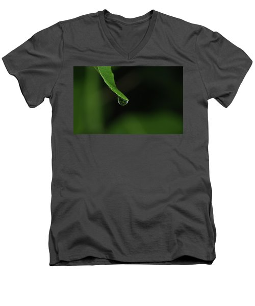 Men's V-Neck T-Shirt featuring the photograph Water Drop by Richard Rizzo