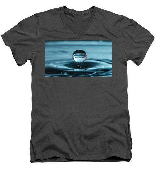 Water Drop With Milk Men's V-Neck T-Shirt
