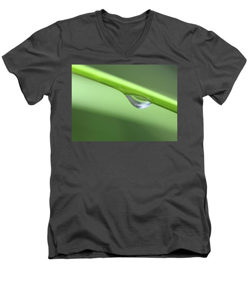 Men's V-Neck T-Shirt featuring the photograph Water Droplet II by Richard Rizzo