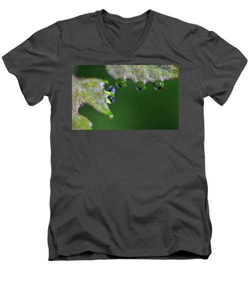 Men's V-Neck T-Shirt featuring the photograph Water Droplet IIi by Richard Rizzo