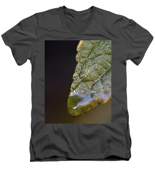 Men's V-Neck T-Shirt featuring the photograph Water Droplet V by Richard Rizzo