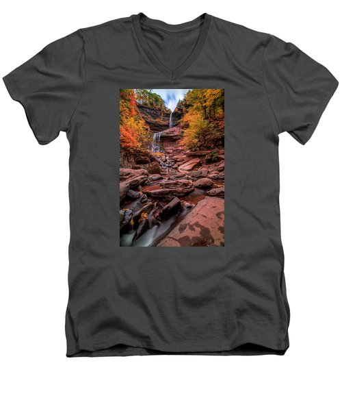 Water Falls  Men's V-Neck T-Shirt by Anthony Fields