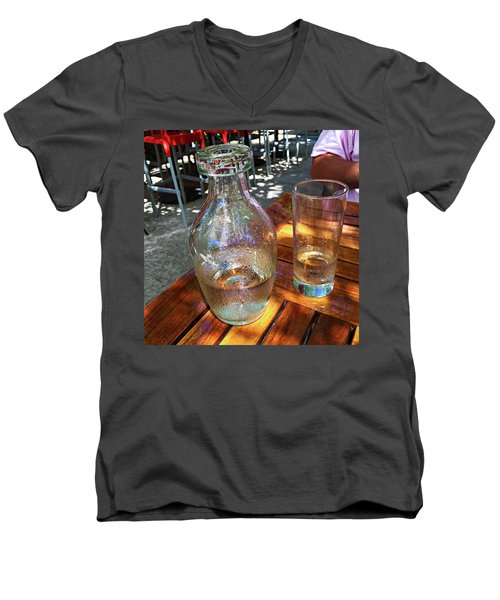 Water Glass And Pitcher Men's V-Neck T-Shirt by Angela Annas