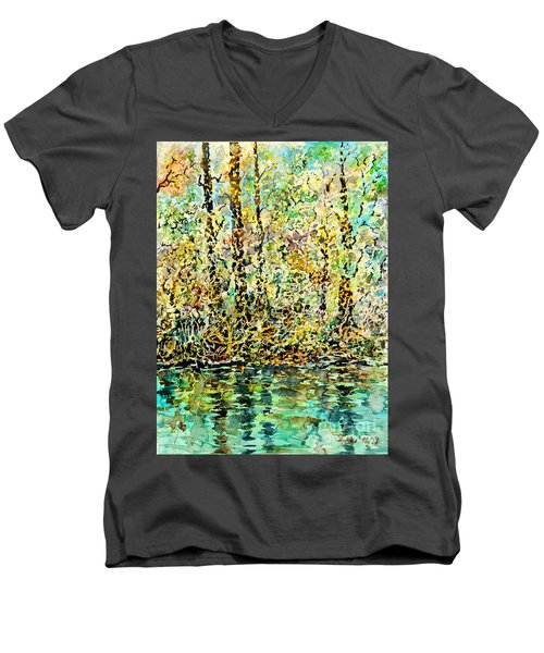 Water Kissing Land Men's V-Neck T-Shirt