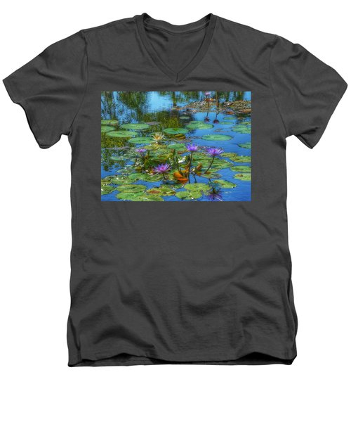 Water Lilies I Men's V-Neck T-Shirt