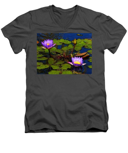 Water Lilies Iv Men's V-Neck T-Shirt