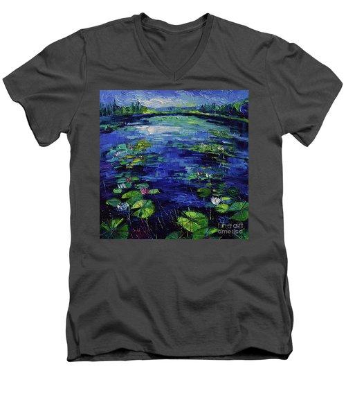 Water Lilies Magic Men's V-Neck T-Shirt
