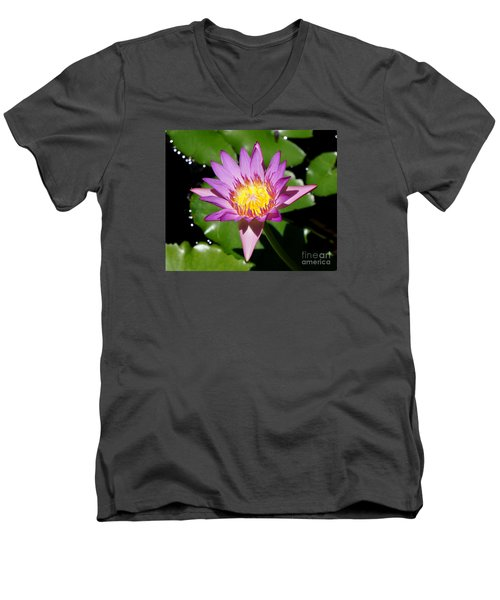Water Lily 8 Men's V-Neck T-Shirt
