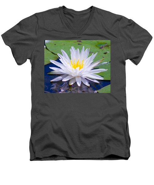 Men's V-Neck T-Shirt featuring the photograph Water Lily by Bill Barber