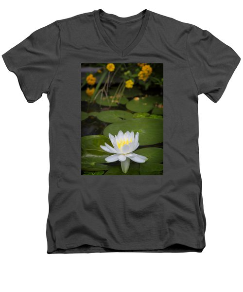 Water Lily IIi Men's V-Neck T-Shirt