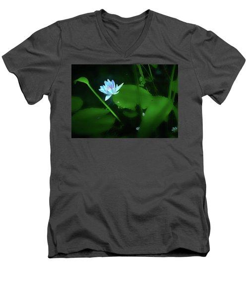 Water Lily N Pond Men's V-Neck T-Shirt